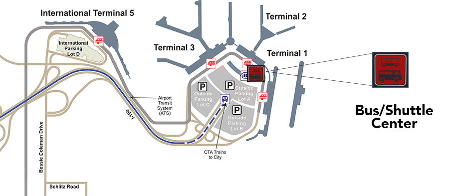 Shuttles and Buses | Chicago O\'Hare International Airport (ORD)