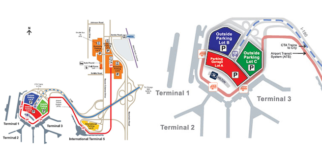 Hourly Parking | Chicago O\'Hare International Airport (ORD)